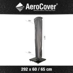 Antraciet-grijze Aerocover Parasolhoes 292 x 60/65 cm Hangparasol