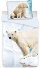 Animal Pictures IJsbeer - Dekbedovertrek - Eenpersoons - 140 x 200 cm - Multi