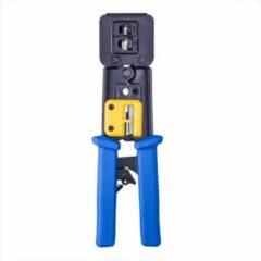 Blauwe Cablexpert Professionele krimptang met ratelmechanisme voor RJ11, RJ12 en RJ45 doorsteekmontage connectoren / metaal
