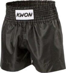 Zwarte KWON Thai - Kickboksbroekje Retro