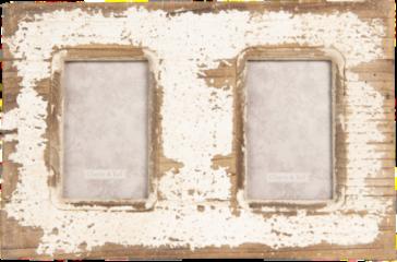 Creme witte Clayre & Eef Fotolijst 2F0632 39*2*26 cm / 10*15 cm (2) - Bruin Hout / glas Fotokader Wissellijst Foto Frame