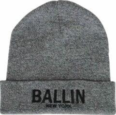 Ballin Est. 2013 unisex muts grijs zwart geborduurd