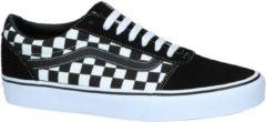 Witte Vans Ward Checkered Heren Sneakers - Black/True White - Maat 44