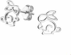 TFT Oorknoppen Konijn Zilver Gerhodineerd Glanzend 10 mm x 9.5 mm