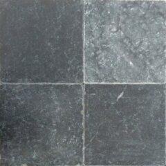 Antraciet-grijze Kerabo Vloer- en wandtegel Turks hardsteen Antique blue anticato 20x20cm Natuursteenlook Getrommeld Antraciet SW0732127