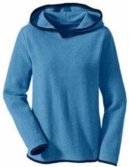 Enna Biokatoenen fleece pullover met capuchon, jeansblauw/nachtblauw 40/42