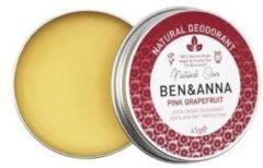 Natuurlijke deodorant Natuurlijke deodorant in crème in een aluminium blikje Roze Grapefruit 45g