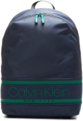 Calvin Klein Striped Logo Round Backpack navy Damestas