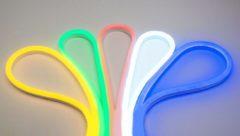 Witte Groenovatie RGB LED Neon Flex 230V, 1 Meter, 14.4 Watt/meter, Waterdicht IP67