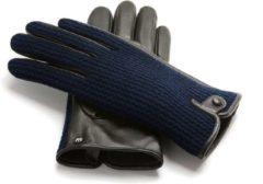 Blauwe Napo gloves NapoWOOL Echt lederen touchscreen Handschoenen Blauw maat M