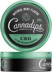 Cannadips CBD olie 16% Natural Mint 10 mg 15 pouches