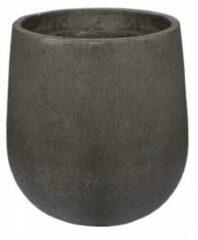 D&M Deco Pot Casual Black M ronde grote bloempot 38x43 cm zwart