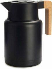 Balvi Thermoskan 1,3 Liter Rvs/hout Zwart/naturel