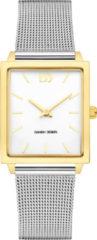 Gouden Danish Design watches edelstalen dameshorloge Miami Stretch Two-Tone Mesh IV65Q1255