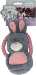 Bunny Puppy Ropey Swing - Hondenspeelgoed - 27x13x6 cm Grijs Roze