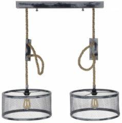 Zaloni Hanglamp Cody 2LxØ40 van 100 cm breed - grijs