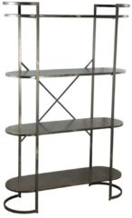 Gouden PTMD COLLECTION PTMD Moza Metal Open Sidetable Metal Base L