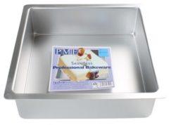 Zilveren PME Legend PME Extra Diepe Vierkante Bakvorm 15 x 15 x 10cm
