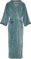 Blauwe Essenza Ilona Uni Dames Nachtmode kimono Maat L