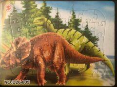 Stemen Kinderpuzzel dinosaurus 28 cm x 21 cm