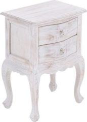 CLP Beistelltisch BJÖRK, Mahagoni-Holz, bis zu 8 Holzfarben wählbar, Kolonialstil, auch als Nachttisch, Telefontisch, Pflanzentisch verwendbar