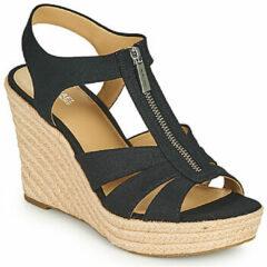 Zwarte Sandalen MICHAEL Michael Kors BERKLEY WEDGE