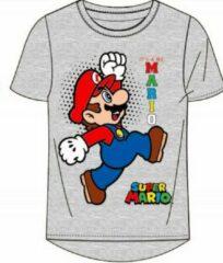 Super Mario t-shirt - grijs - Maat 104 / 4 jaar