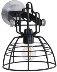 Anne Lighting Lighting - Industriele AN Wandlamp 1-L. 22x24cm - Zwart