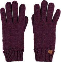 Sarlini Bordeauxrode gebreide handschoenen voor kinderen - One size - Warme fleece voering handschoenen voor jongens/meisjes
