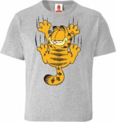 Licht-grijze Logoshirt Unisex T-shirt Maat 128