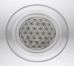 Transparante Yogi & Yogini Drinkglas Mythos met Bloem des Levens Platina