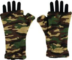 Apollo Vingerloze handschoenen camouflage print voor volwassenen