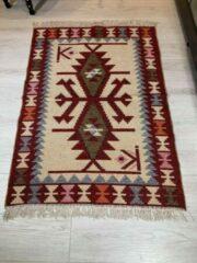 Sunar Home Kelim Vloerkleed konak - Kelim kleed - Kelim tapijt - Oosterse Vloerkleed - 90x120 cm - Loper - Bankkleed - Plaid