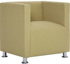 5 days Fauteuil kubus polyester groen