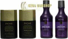 Inoar Keratine Inoar Moroccan Keratine Set Met Speed Blond Shampoo & Conditioner 250 ML