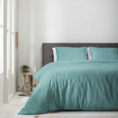 Witte Luna Bedding - Lits-jumeaux Dekbedovertrek Luna Uni - Jade 240x220 cm - Microvezel - Dekbedovertrek met 2 kussenslopen