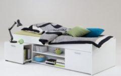 Bett 90 x 200 cm weiss FMD Carlo 1