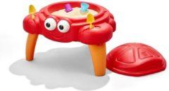 Rode Step2 Crabbie Zandtafel - Krab stijl zandbak - Incl. deksel en 4-delige accessoire set