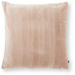 Beige HKliving Striped Velvet sierkussen 45 x 45 cm
