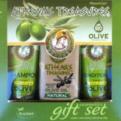 Pharmaid Athenas Treasures Giftset 1 ( Shampoo Natural & Conditioner Natural 60ml & natuurlijke Olijfolie zeep 100gr) | Hairecare
