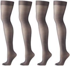HEMA 4-pak Mat Panty's 20 Denier Zwart (zwart)