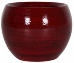 Rode 5 stuks Bloembak Pot Cresta deep red D17 H13 cm TS