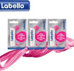 Roze Labello Hot Pink Lippenbalsem Met Natuurlijke Olieen Care & Color - 3 Pack Voordeelverpakking