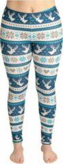 ZUMPREMA Foute Kerst Legging - Blauw Wit