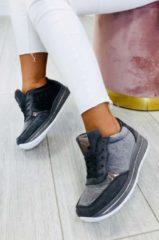 Grigio Alx Trend Sneakers damascate in velluto Josephine Grigie
