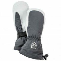 Grijze Hestra - Women´s Heli Ski Mitt - Handschoenen maat 5 grijs/zwart