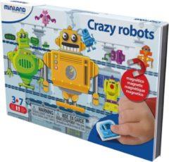 Miniland ZZZML Taal: CRAZY ROBOTS, magnetisch spel voor op reis, 3+