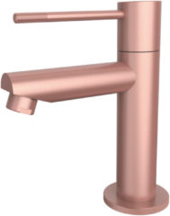 Roze Toiletkraan Best Design Lyon-Ribera Uitloop Recht 14 cm 1-hendel Mat Rose Goud