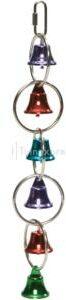 Afbeelding van Pet Products Metalen vogelspeeltje Met 6 belletjes - Assorti