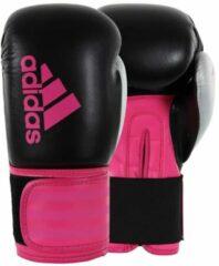 Adidas Hybrid 100 Dynamic Fit (Kick)Bokshandschoenen Zwart/Roze 8 oz